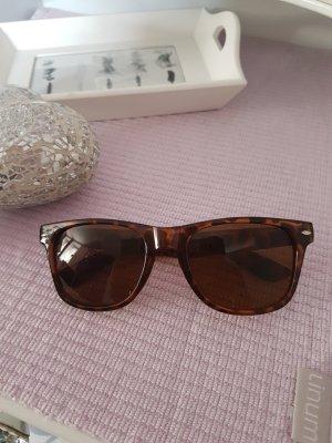 Sonnenbrille, braun-schwarz, Neu