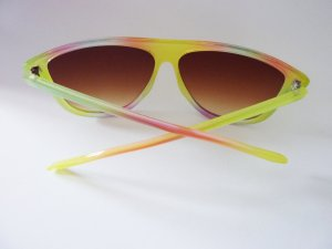 Sonnenbrille Brille gelb neonfarben
