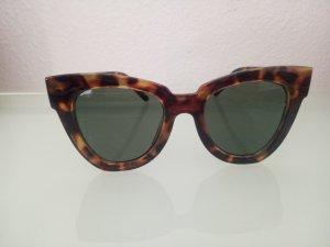 Sonnenbrille Brille Leo XXL Cat Eye Braun Schwarz Leopard Blogger