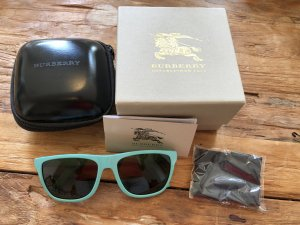 Burberry Retro Glasses turquoise-light blue synthetic material