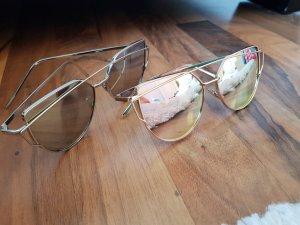 Gafas de sol cuadradas color plata-color rosa dorado