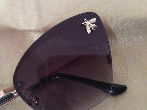 Glasses black-gold-colored