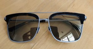 Calvin Klein Angular Shaped Sunglasses brown-silver-colored