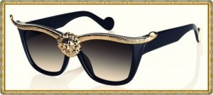 Glasses black-gold-colored
