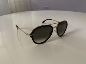 Celine Gafas de piloto negro-color oro