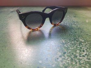 Celine Occhiale nero-marrone scuro