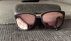 Chanel Round Sunglasses lilac-rose-gold-coloured