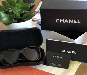 Chanel Angular Shaped Sunglasses black