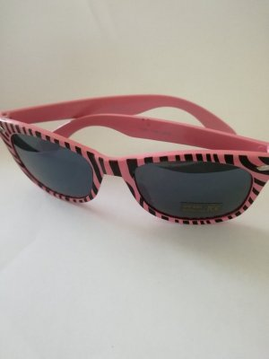 Oval Sunglasses pink-black synthetic material