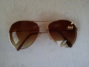 Butterfly Glasses gold-colored-light brown