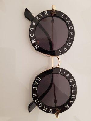 Sonnenbrille Damen Rund/ Schwarz