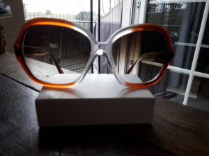 Butterfly Glasses brown red
