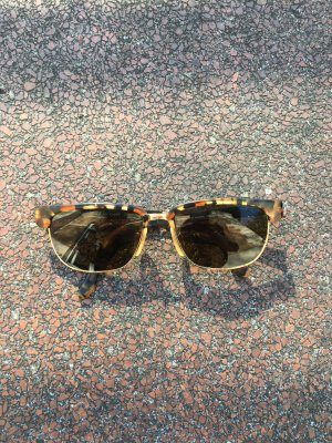 Sonnenbrille Designer wayfarer Form alpine braun Gold Verzierung