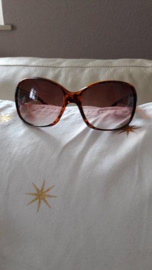 H&M Gafas de sol redondas marrón-negro-coñac Material sintético