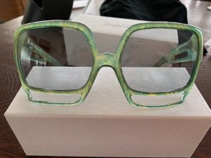 Dior Retro Glasses sage green-lime-green synthetic material