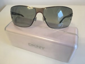 DKNY Angular Shaped Sunglasses silver-colored-black
