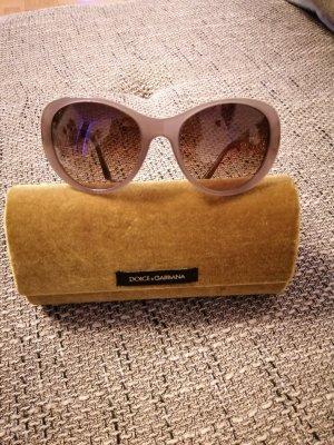 Dolce & Gabbana Lunettes retro doré-brun