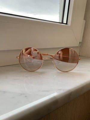 Ronde zonnebril brons-roségoud