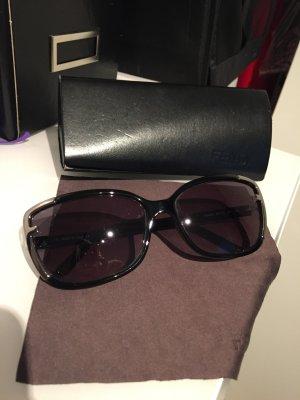 Sonnenbrille Fendi Schwarz Silber Etui