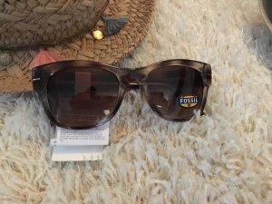 Sonnenbrille Fossil NEU grau braun Sommer blogger stylisch