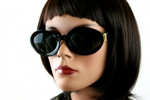 Karl Lagerfeld Oval Sunglasses brown red-anthracite synthetic material