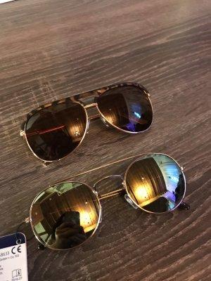 Sonnenbrille Gläser rund Piloten Brille braun Sommer