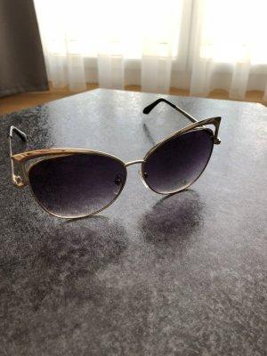 Sonnenbrille Gold/ getönte Gläser