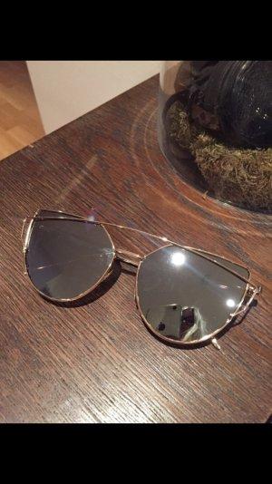 Sonnenbrille Gold Silber verspiegelt neu