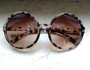 Sonnenbrille groß rund blogger Braun Boho Hippie Edel retro 60er 60s