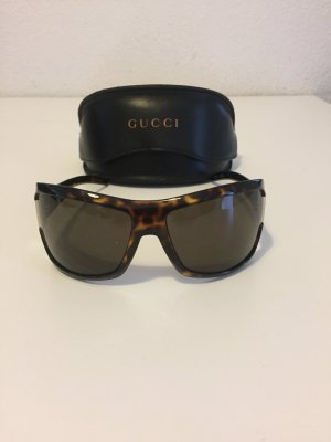 Gucci Oval Sunglasses black-bronze-colored