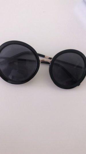 Retro Glasses black-gold-colored
