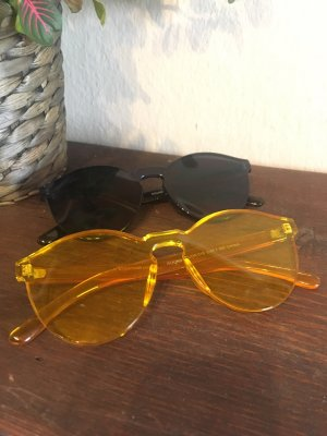 Asos Round Sunglasses yellow-black