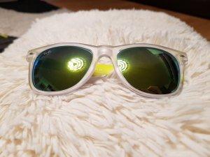 Sonnenbrille in grau Neongelb
