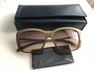 Jil Sander Angular Shaped Sunglasses light brown-beige