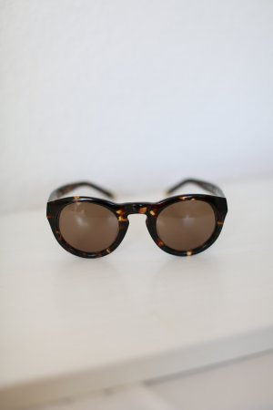 Sonnenbrille Juicy Couture Tortoise Dark Havanna runde Gläser Braun Vintage Look