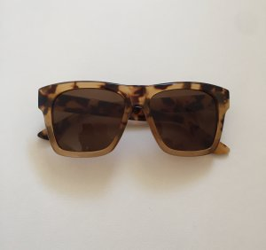 Sonnenbrille Leopardenmuster Leo Leopard eckig sunglasses