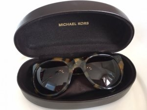Michael Kors Round Sunglasses brown-black synthetic material