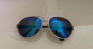Glasses silver-colored-blue