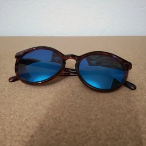 H&M Round Sunglasses brown red-blue
