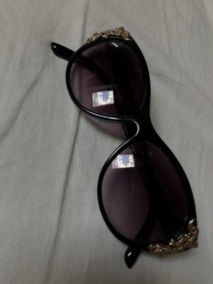 sito affidabile 6f83e 12abe H&M Occhiale da sole ovale nero-oro