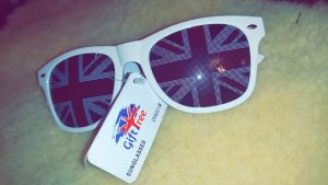 Sonnenbrille mit Nationalflagge England