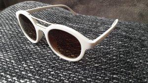Gafas blanco-color oro