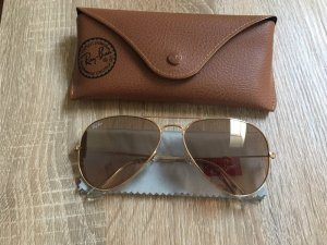 Ray Ban Aviator Glasses gold-colored-light brown