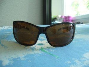 Sonnenbrille no name Gestell transparentes Zebramuster Gläser braun