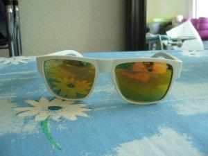 Sonnenbrille no name weißes Gestell gelb orange Gläser