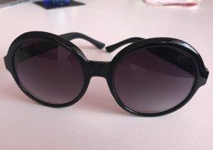 Sonnenbrille O by Oscar de la Renta groß rund designer schwarz luxus damen