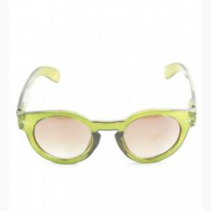 Sonnenbrille Oliv rund