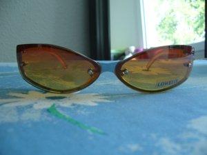 Sonnenbrille orange gelb Loweite UV 400