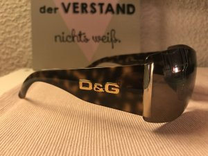 Dolce & Gabbana Angular Shaped Sunglasses black brown-beige