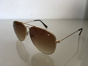 Glasses gold-colored-light brown